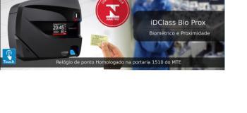 Catraca biometrica control id